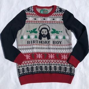 ugly christmas sweater sweaters ugly christmas sweater birthday boy mens sweater